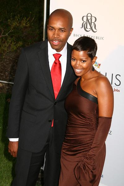 D-Nice with his ex-wife Malinda Williams