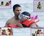EXCLUSIVE: Singer Fantasia Barrino and Antwaun Cook are spotted on a beach in Barbados