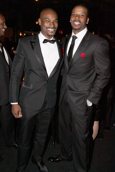 Photo of Tyson Beckford & his friend  Kerry Rhodes