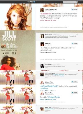 #TwitterBeef Jill Scott Starts Tweet Beef with Braxtons over Mary Mary Compliment