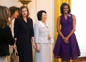 [Pix] First Lady Michelle Obama Hosts G8 Wives and Girlfriends