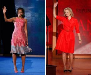 [Who Wore it Best?] Obama (Tracy Reese) vs. Romney (Oscar de la Renta)
