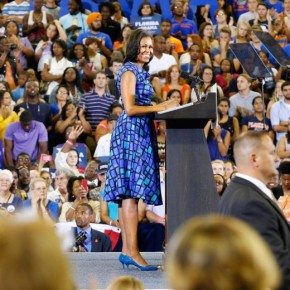[Style Watch] First lady Wows in Blue the University of Florida + BeyJay Meets the President