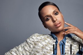 [MAG COVERS] KERRY WASHINGTON COVERS ELLE MAGAZINE