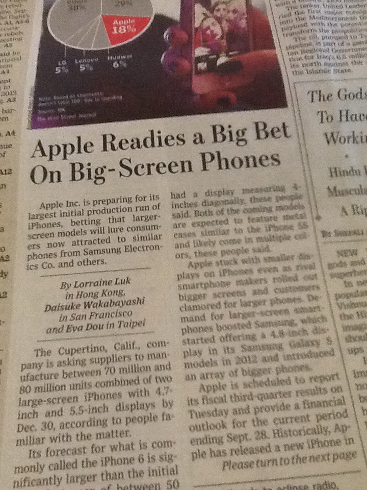 iPhone goes BIG!